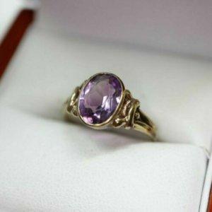 Vintage Złoty pierścionek Wielokolorowy
