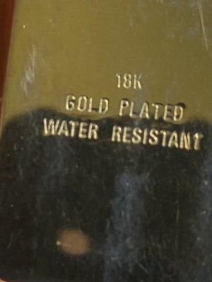 Antik Armbanduhr 18k plated Gold top Zustand