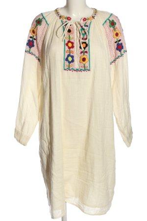 Antik Batic Robe à manches longues crème style décontracté