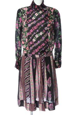 Antik Batic Robe à manches longues imprimé allover élégant