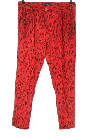 Antik Batik Luźne spodnie czerwony Abstrakcyjny wzór Elegancki
