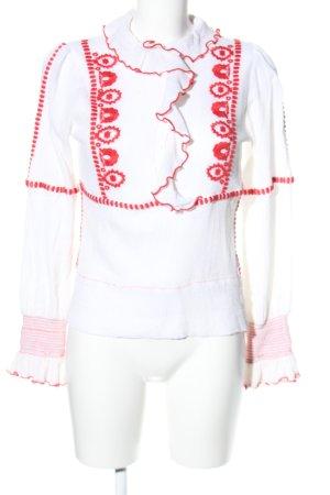 Antik Batik Long Sleeve Blouse white-red graphic pattern casual look