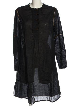 Antik Batik Sukienka z długim rękawem czarny Melanżowy W stylu casual