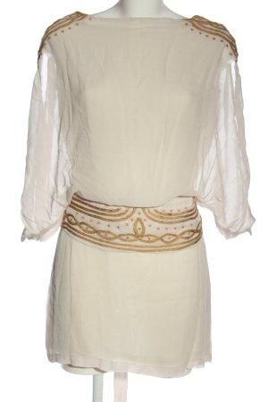 Antik Batik Mini Abito bianco-marrone stile casual