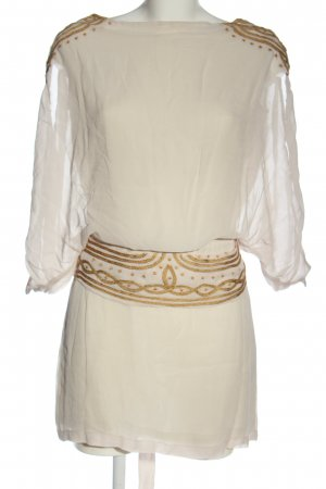 Antik Batik Sukienka mini biały-brązowy W stylu casual