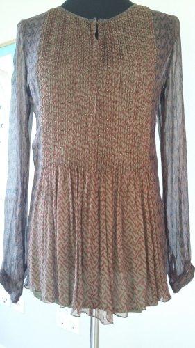Antik Batik Long Sleeve Blouse multicolored silk