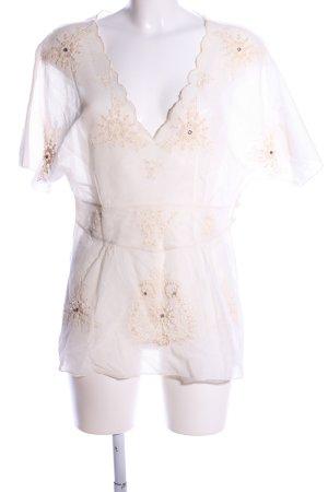 Antik Batik Maglia a rete bianco sporco stile casual