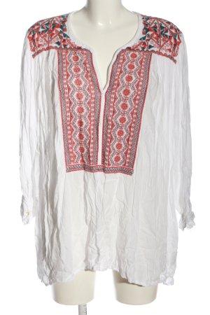 Antik Batik Slip-over Blouse white-red casual look
