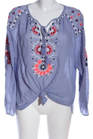 Antik Batik Bluzka przez głowę Wzór w kwiaty W stylu casual