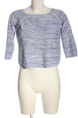 Antik Batik Sweter z dzianiny niebieski-biały Melanżowy W stylu casual