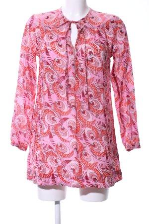 Antik Batik Tunic Blouse pink-red abstract pattern casual look