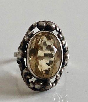 Antik citrin 835  Ring Silberring