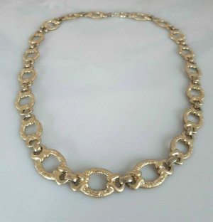 antik Collier Gold double Halskette kette Am. Double