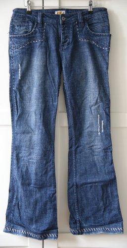 Antik Denim Jeans a zampa d'elefante blu