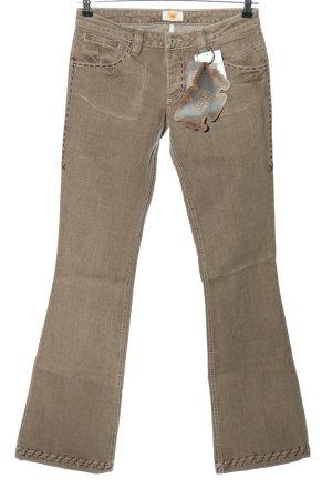 Antik Denim Jeans vita bassa marrone stile casual
