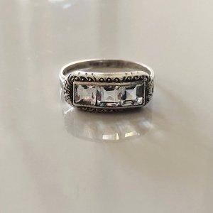 Antik Jugendstil Bergkristall Silber Ring Silberring 935 feinsilber