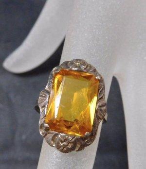 Antik Jugendstil Ring 835 Silber echt silber Edelstein Citrin Art Deco