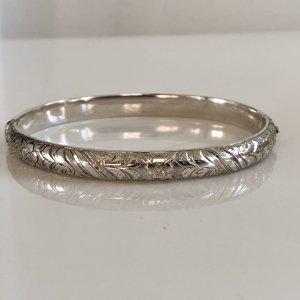 Antik Jugendstil Silber Armband Klapparmreif Armreif 835 Silber verziert