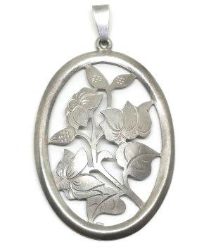 Antik Jugendstil XL Anhänger 800 Silber Handarbeit Meisterpunze vintage Juwelier