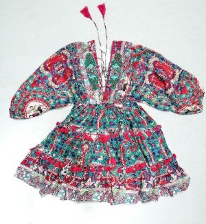Antica Santoria Sukienka boho Wielokolorowy Bawełna