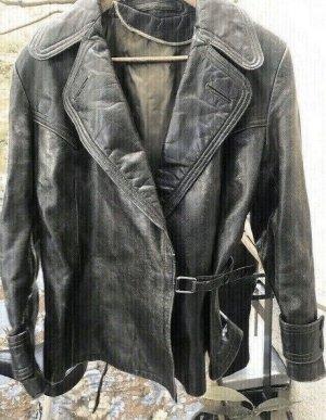 Cappotto in pelle nero