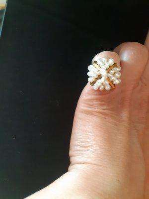 Złoty pierścionek biały-złoto