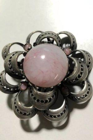 Vintage Broche zilver-roségoud