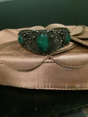 Bangle silver-colored-forest green