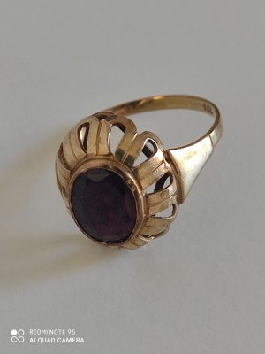 Vintage Gold Ring gold-colored-brown red