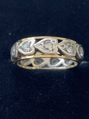 Antiker Memory Ring Silber/Gold (9ct.)  Vintage