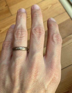 antiker Verlobungsring • Ehering  800er Silber