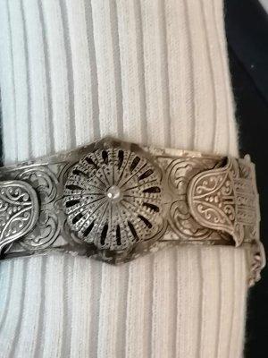 Antikes Armband aus dem asiatischen Raum Hand der Fatima in Silber