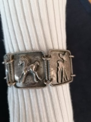 Antikes Armband echt Silber mit Tierfiguren