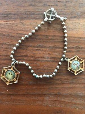 0039 Italy Bransoletka charm brąz-złoto