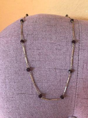 Antikschmuck - Halskette (vergoldet) mit Granatperlen