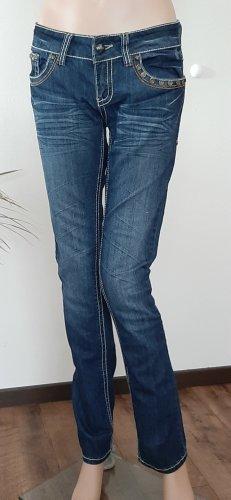 *** Antique Rivet Damen Jeans mit vielen Dekonieten