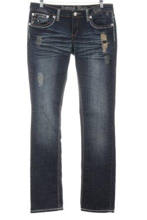Antiquet Rivet Slim Jeans blue casual look