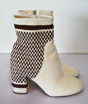 Antolina Paris Ankle Boots Marta Neuwertig 36,5 beige braun Stiefeletten Strickschaft