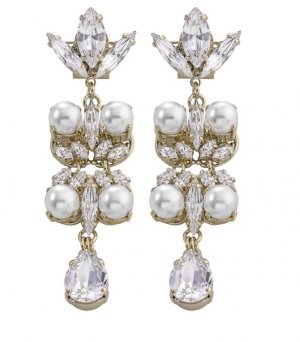 Anton Heunis Statement Earrings gold-colored-white