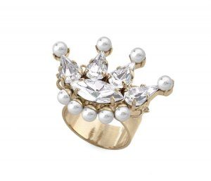 Anton Heunis Statement Ring gold-colored-white
