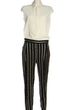 Antonelli Firenze Kombinezon biały-czarny Wzór w paski W stylu casual