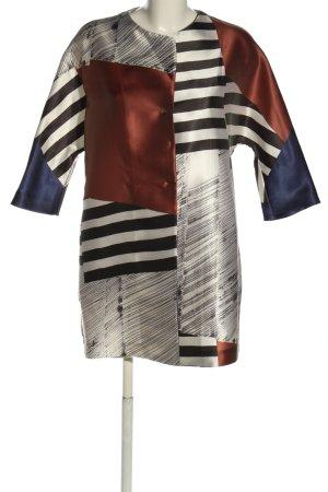 Antonelli Firenze Długa kurtka Abstrakcyjny wzór W stylu casual