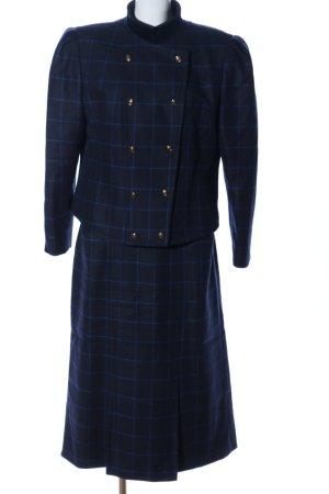 Antonette - Franz Haushofer Ladies' Suit blue check pattern elegant