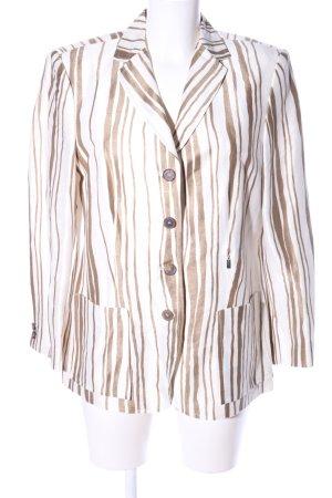 Antonette - Franz Haushofer Short Blazer white-brown striped pattern