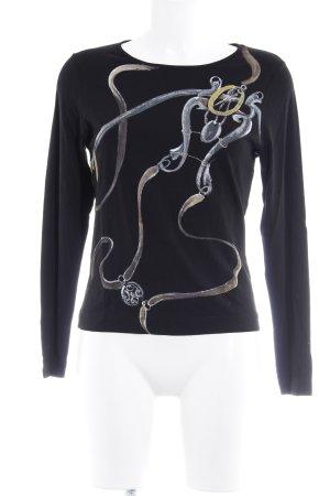 Antonette - Franz Haushofer Sweatshirt noir imprimé abstrait