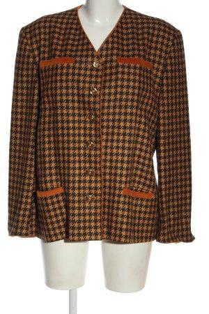 Antonette - Franz Haushofer Blazer in lana arancione chiaro-nero motivo a quadri