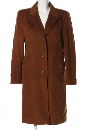 Antonette - Franz Haushofer Cappotto in lana marrone stile professionale