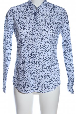 Antoni & Alison Long Sleeve Shirt white-blue allover print casual look