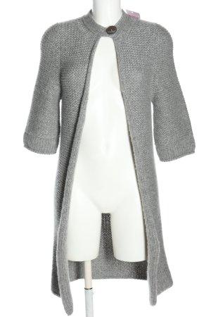 Antonia Zander Veste en tricot gris clair style décontracté
