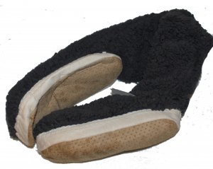 Slipper Socks dark grey polyester